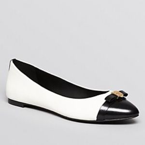 Black & White Tory Burch Flats